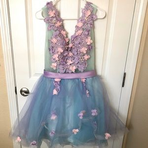Fairy/Princess Dress - Pink/Purple Florals